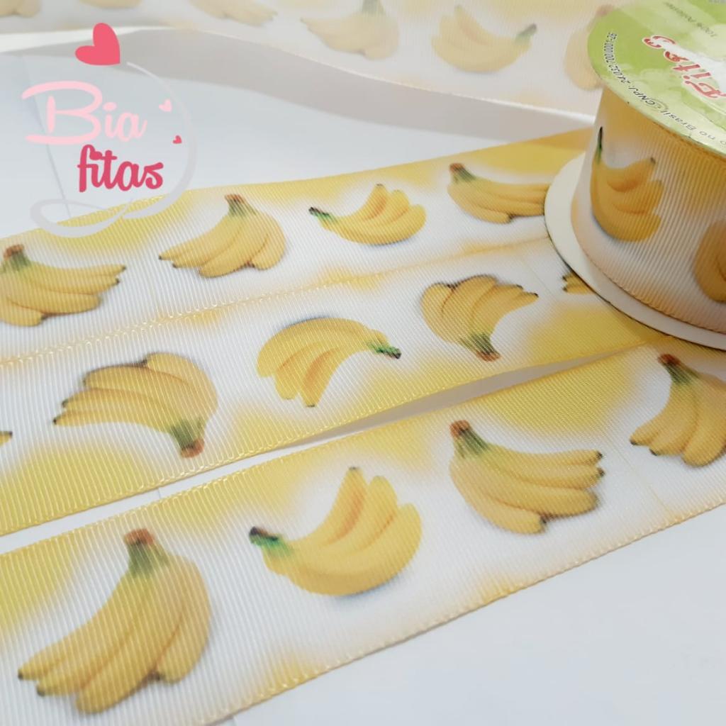 Gorgurão Art Fitas Bananas 38 - 429 - 10 metros