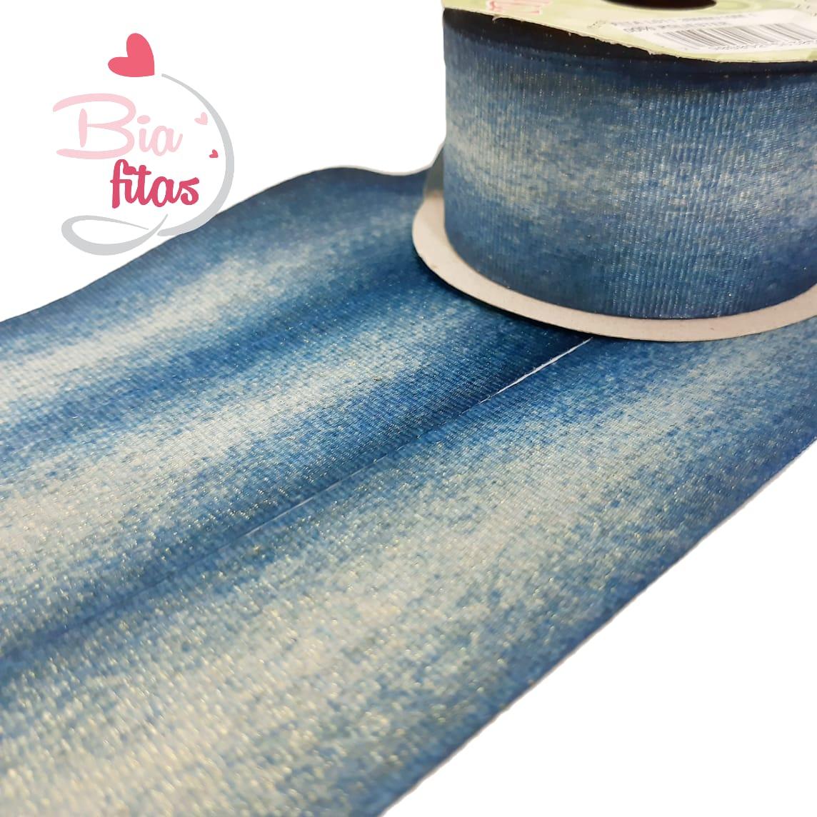 Gorgurão com Lurex Art Fitas Jeans 38 - 011 - 10 metros