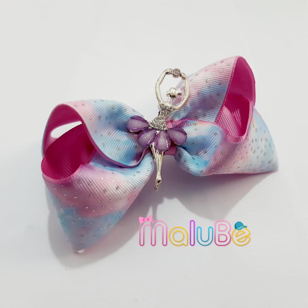 Laço Degradê Glitter Bailarina G