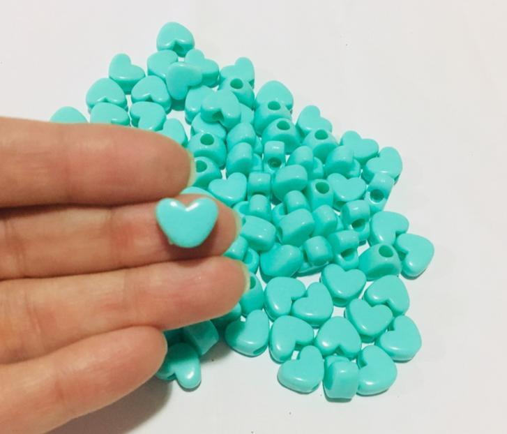 Miçanga para Pulseiras Coração Verde (20g)