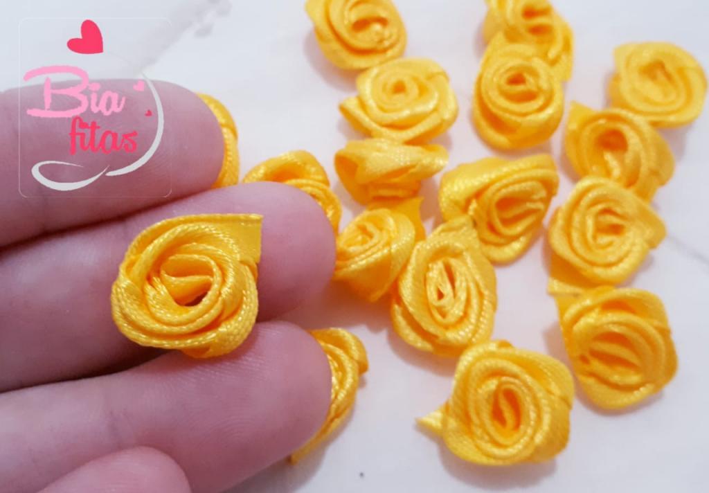 Mini Flor Rococó Amarelo Ouro 24