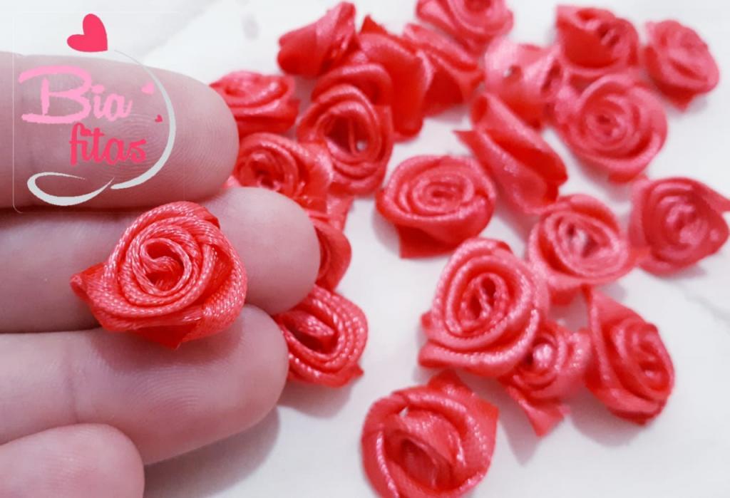 Mini Flor Rococó Pink Claro/ Coral 28