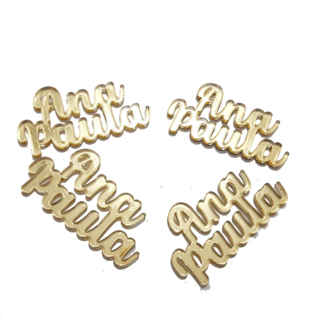 Nome Composto em Acrilico Dourado Espelhado - Ana Paula