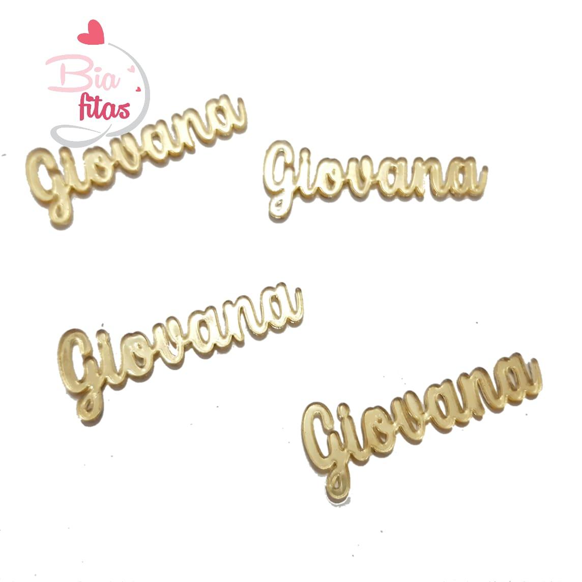 Nome Simples em Acrilico Dourado Espelhado - Giovana