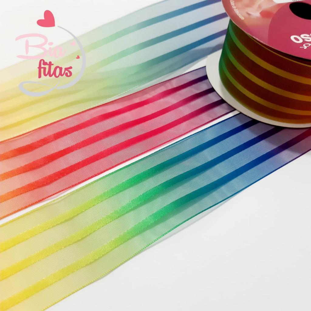 Organza Progresso Multicolor 38 - 02 - 10 metros