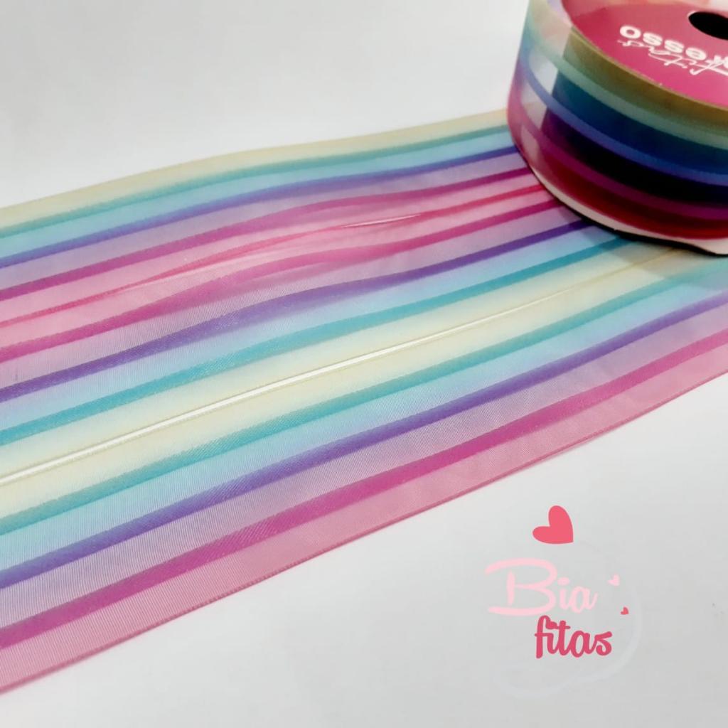 Organza Progresso Multicolor 38 - 03 - 10 metros