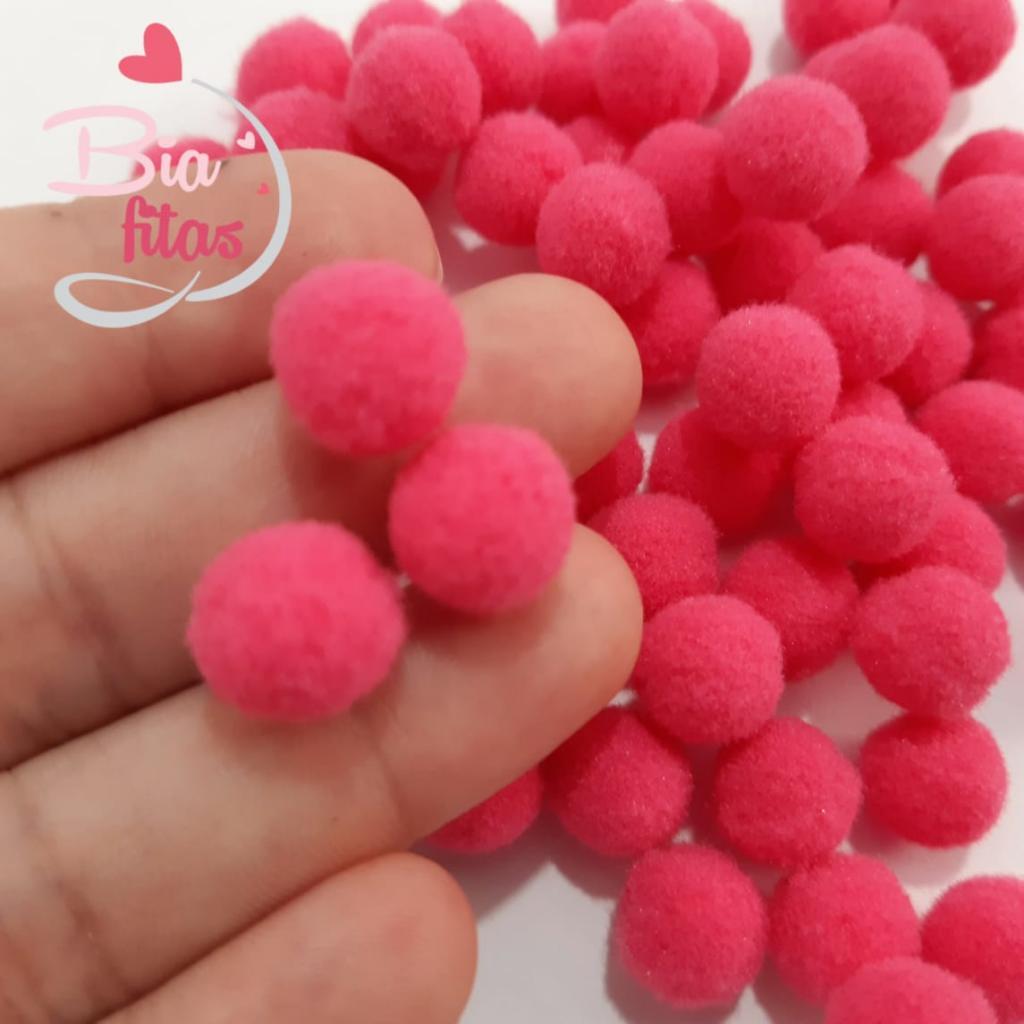Pom Pom 10mm Pink 06 (Pacote com 100 unidades)