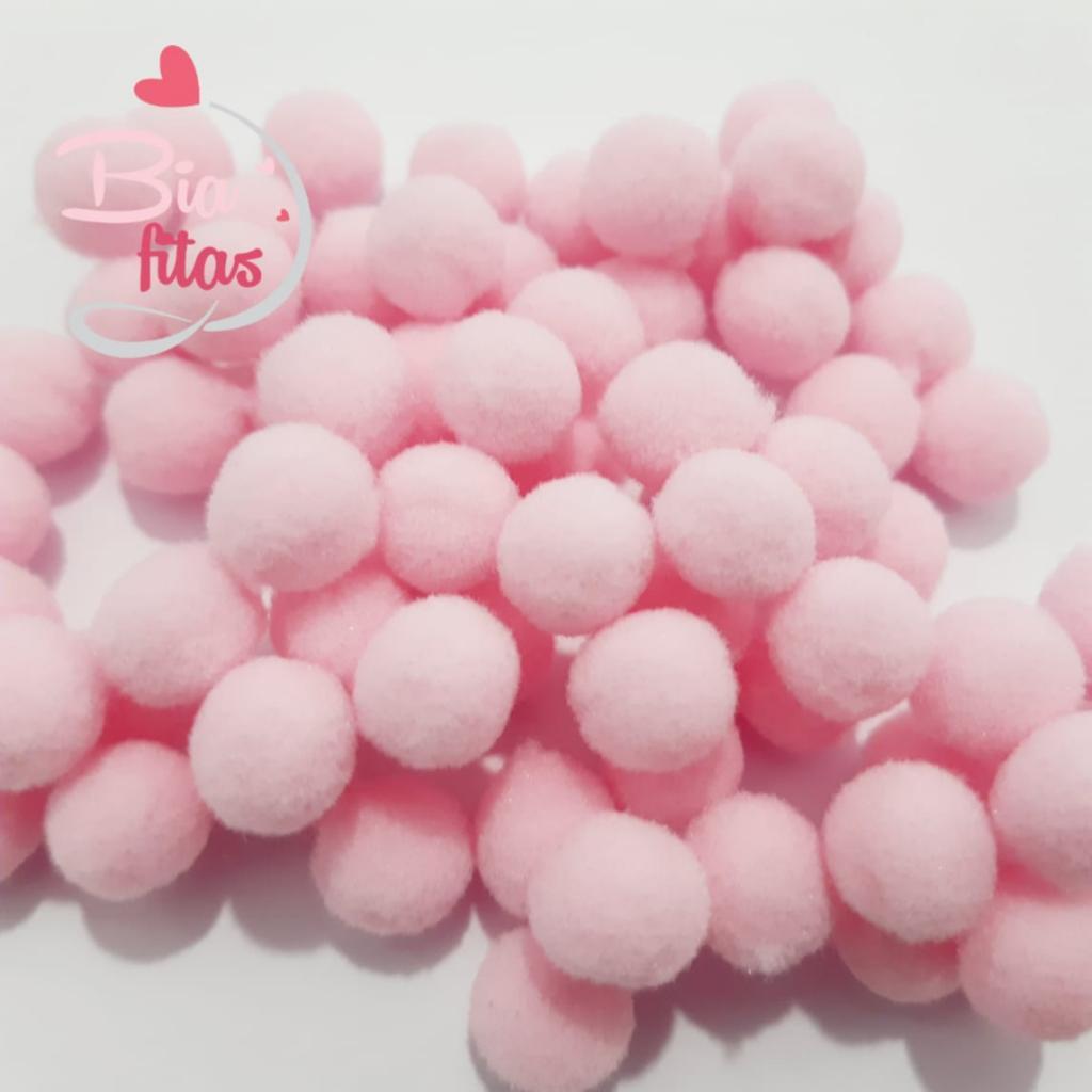 Pom Pom 10mm Rosa Claro (Pacote com 100 unidades)