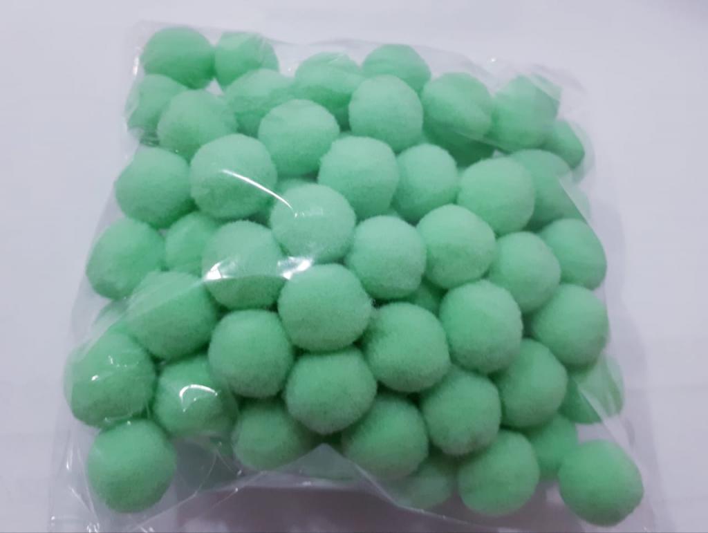 Pom Pom 10mm Verde (Pacote com 100 unidades)