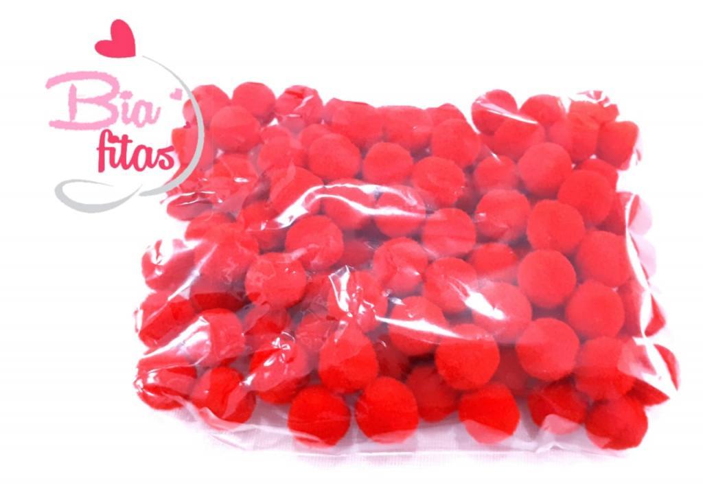 Pom Pom 10mm Vermelho (Pacote com 100 unidades)