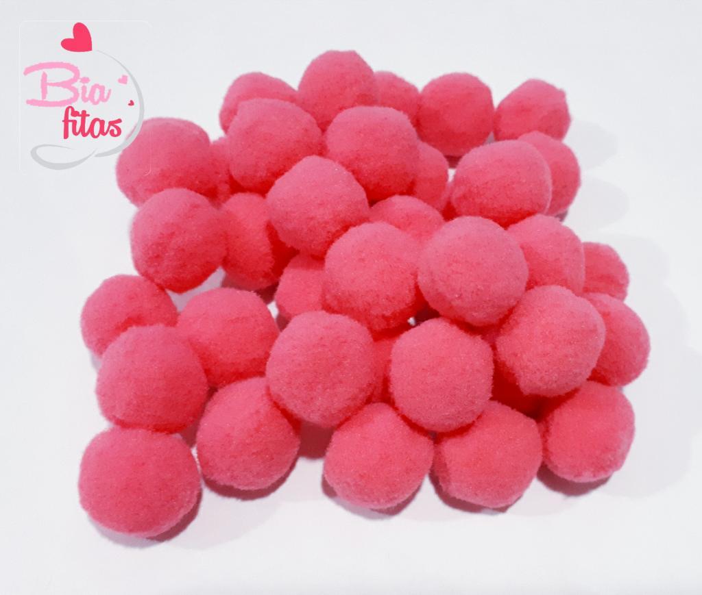 Pom Pom Cor Unica Pink 20mm (Pacote com 50 unidades)