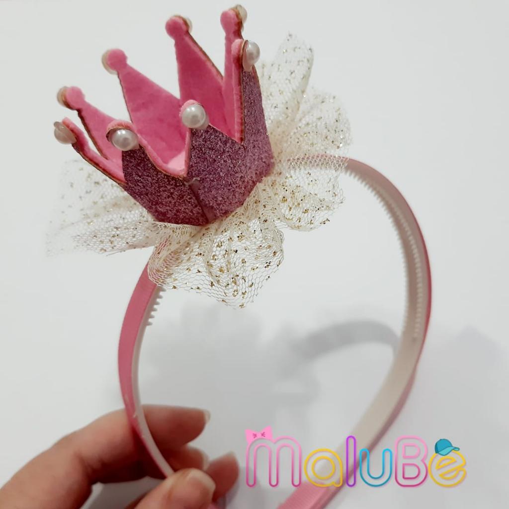 Tiara Coroa Rosa