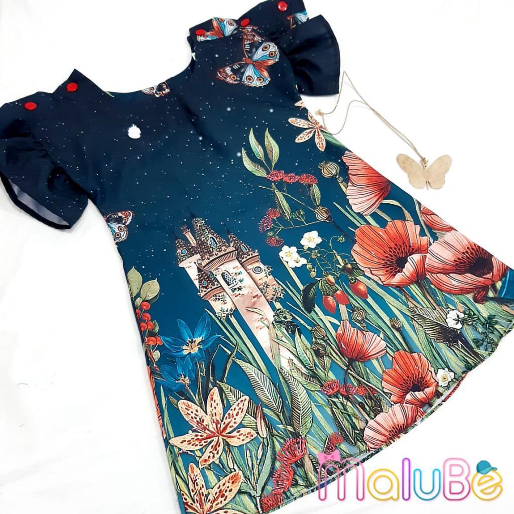 Vestido Crepe Jardim do Castelo com Colar