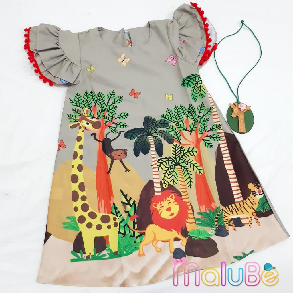 Vestido Crepe Safari