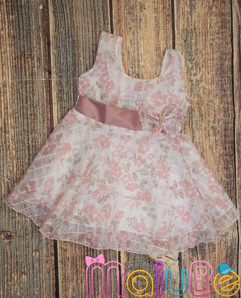 Vestido de Organza Estampa 2 Floral