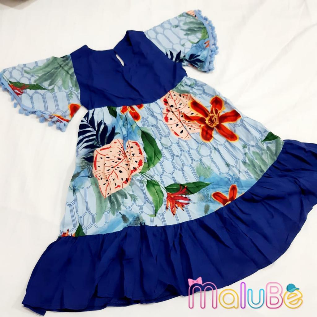 Vestido PomPom Azul