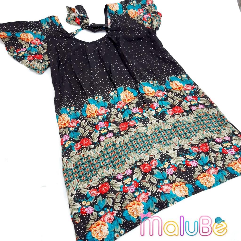 Vestido Preto Flores