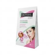 Folhas Depilatórias Facial Depimiel  Sensitive Peles Delicadas -16 un