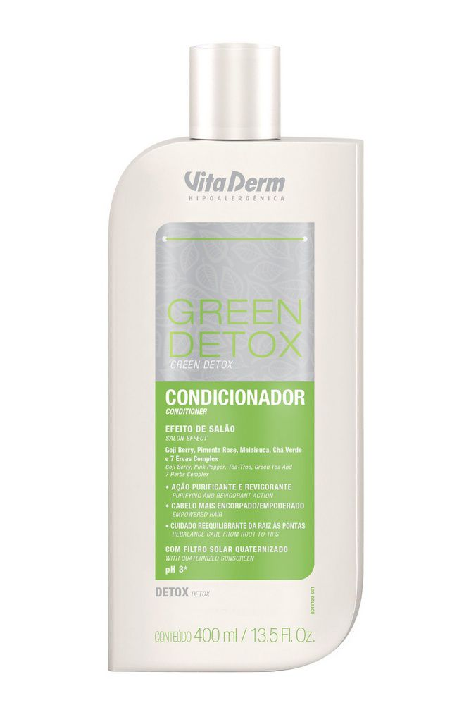 Condicionador Green Detox 400ml Vitaderm