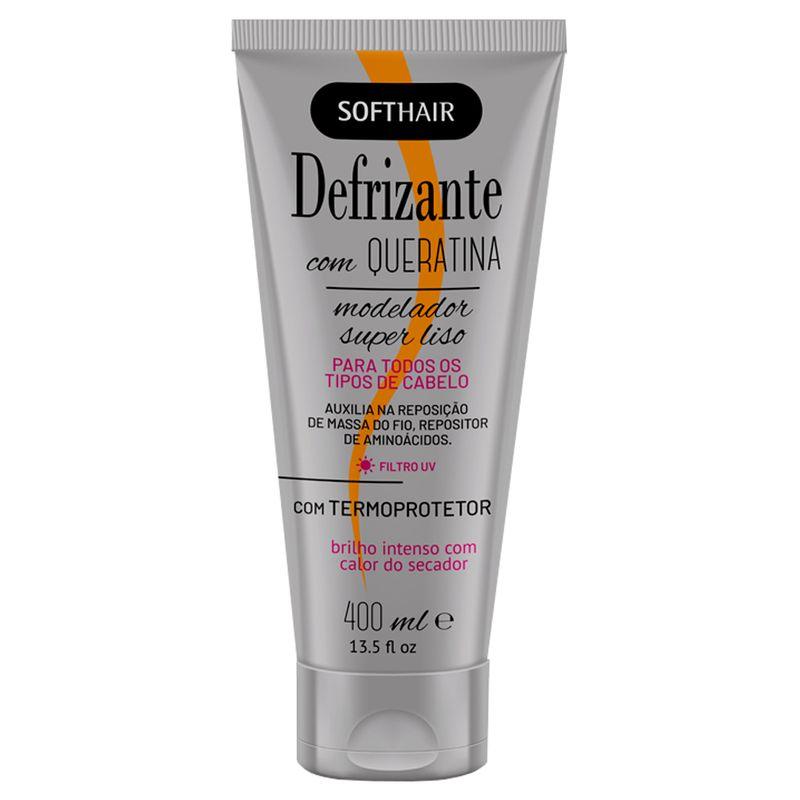 Defrizante Soft Hair Termoprotetor Com Queratina 400ml