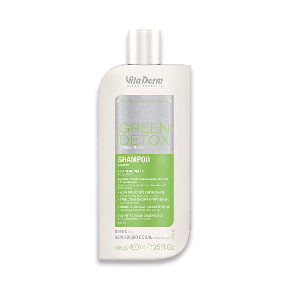 Shampoo Green Detox 400ml Vitaderm