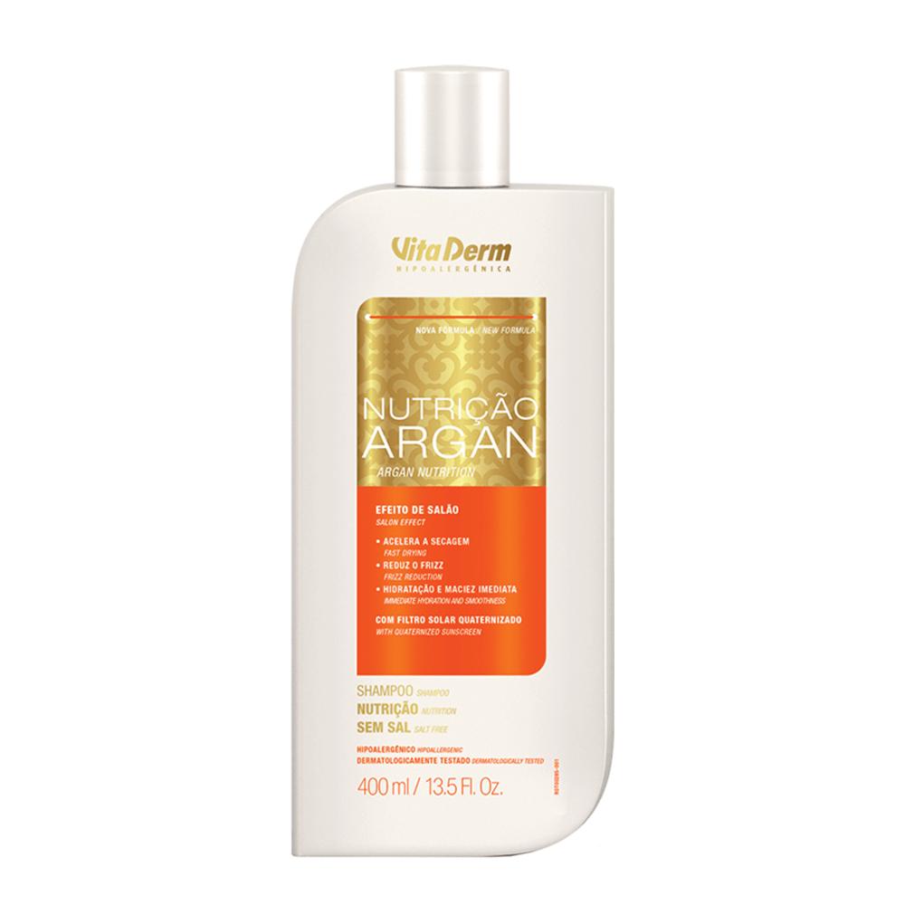 Shampoo Nutrição Argan 400ml Vitaderm