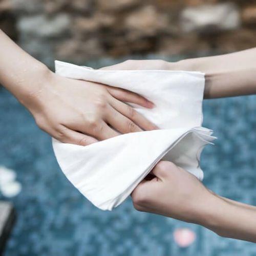 Toalha Manicure Lisa Spuntec 20x30cm  Descartável 100 unid