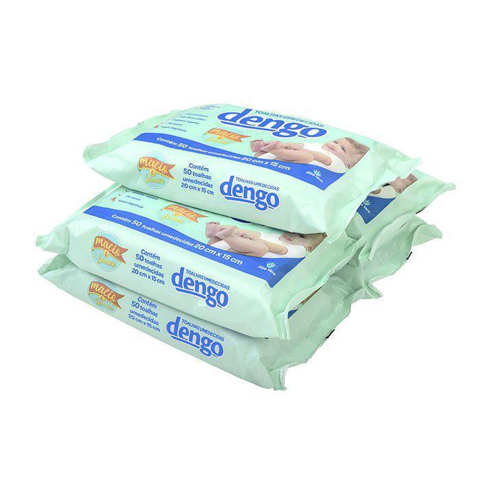 Toalhas Umedecidas Dengo 20x15 cm 50 unidades