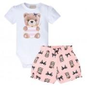 Conjunto Bebê Fem, Body E Shorts - Milon 12601
