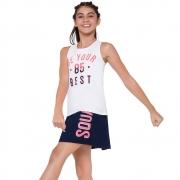 Conjunto Feminino Infantil Short Saia Linha Moving - Kyly - 110369