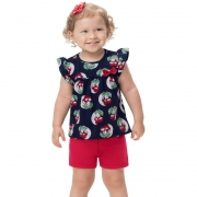 Conjunto infantil feminino - Kyly - 110873