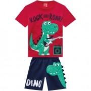 Conjunto Masculino Infantil Dino Alto Relevo - Kyly -110682