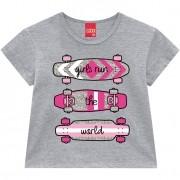 CROPPED INFANTIL CINZA SKATE COM GLITTER - 110656 KYLY
