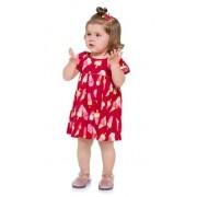 VESTIDO INFANTIL FEMININO VERMELHO SORVETE - 110185 KYLY