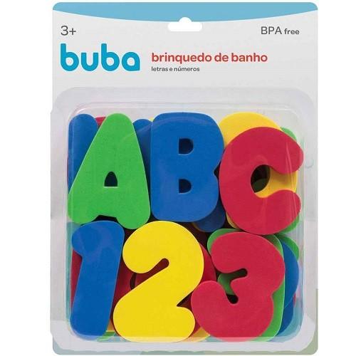 Brinquedo de banho letras e números  - Buba - 10738