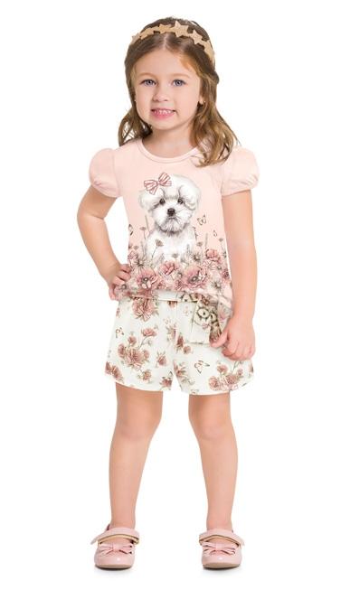 Conjunto infantil feminino - Milon - 12818