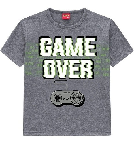 Camiseta Masculina Infantil Kyly - Game Over