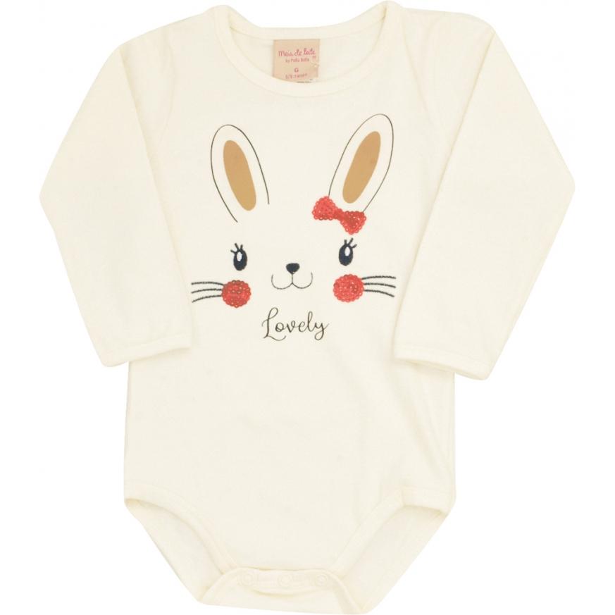 Conjunto bebê feminino - Meia de Leite - 111259