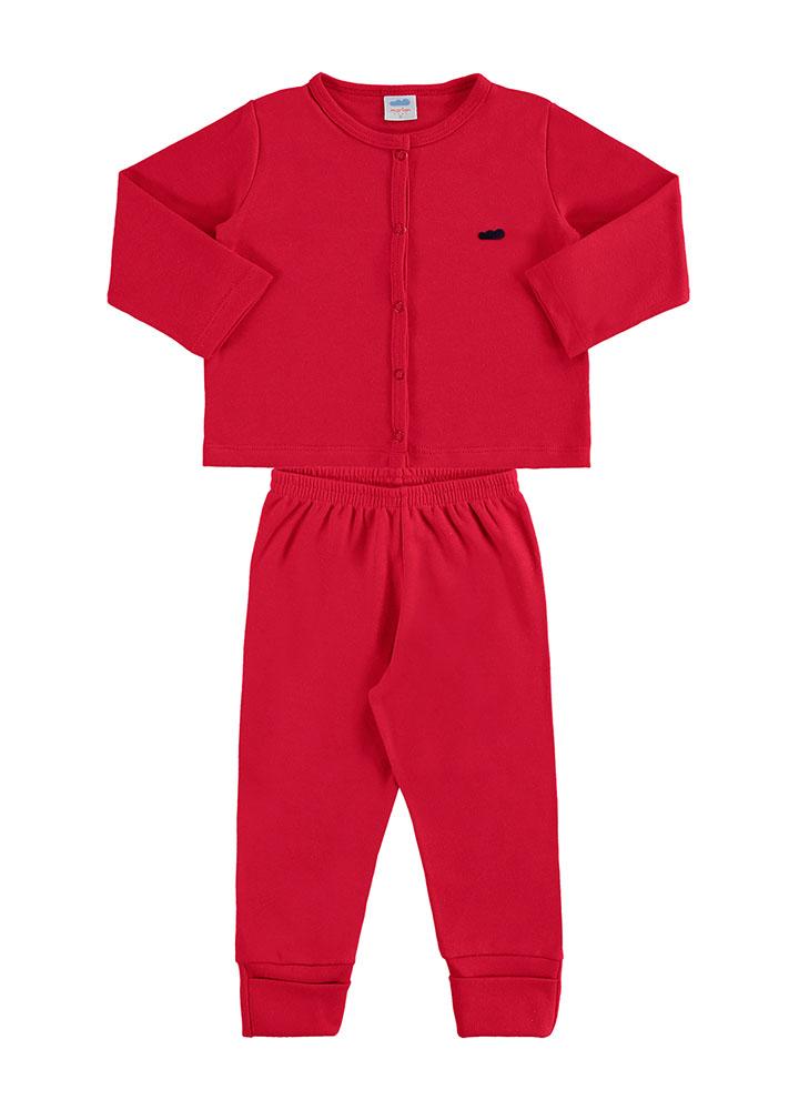 Conjunto casaco e culote bebê básico - Marlan 20490