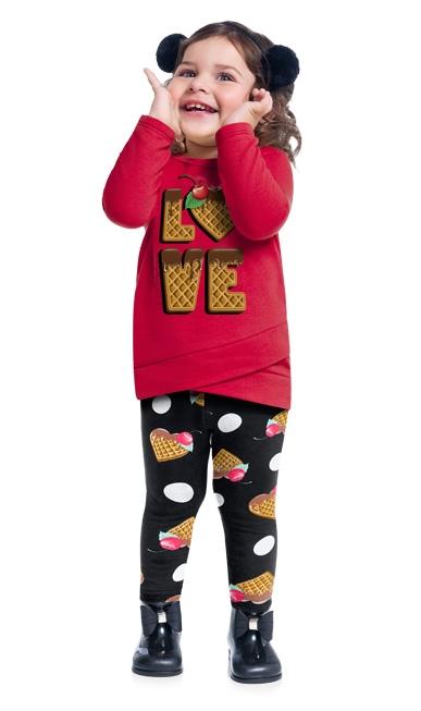 Conjunto infantil feminino - Kyly - 207386