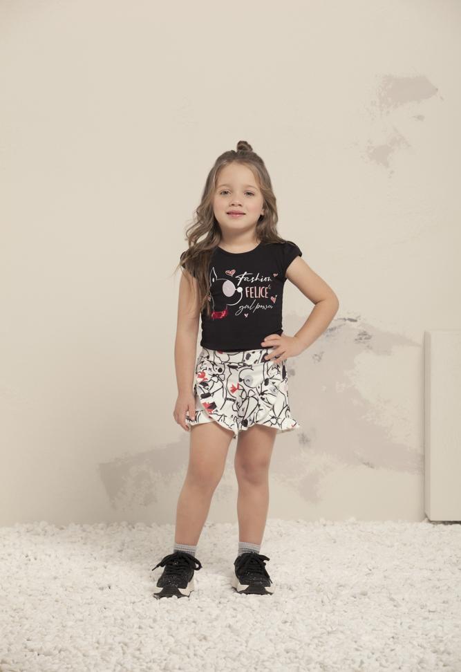 Conjunto infantil feminino - Milli e Nina - 67119