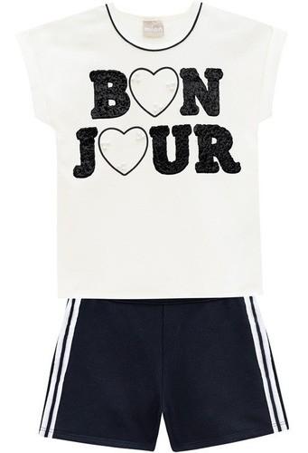 Conjunto Infantil Menina Bon Jour Perolado - Milon - 12681