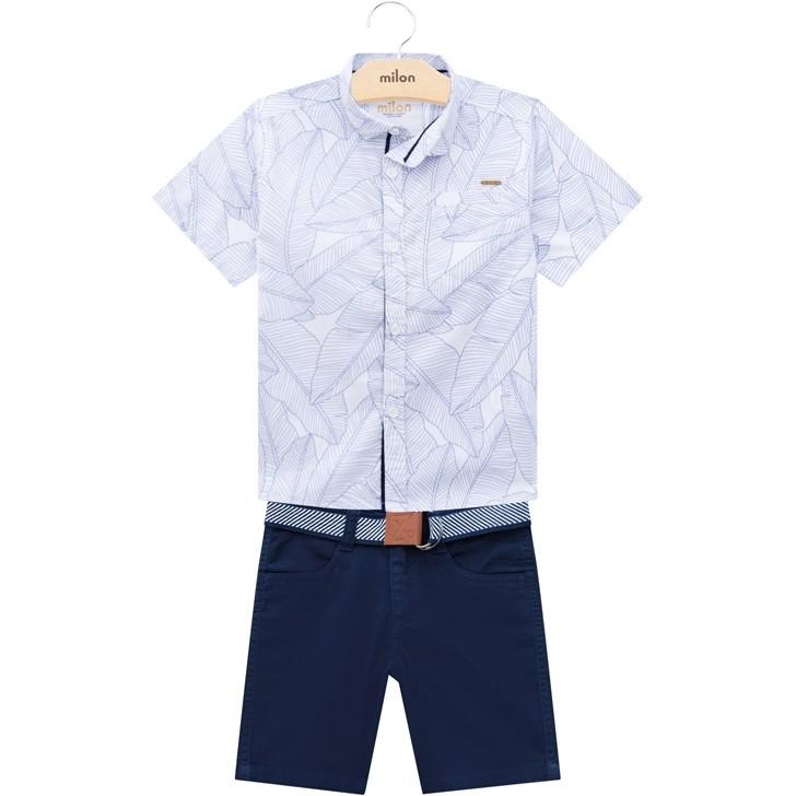 Conjunto Masculino Infantil Classic folhas azul- Milon - 12801