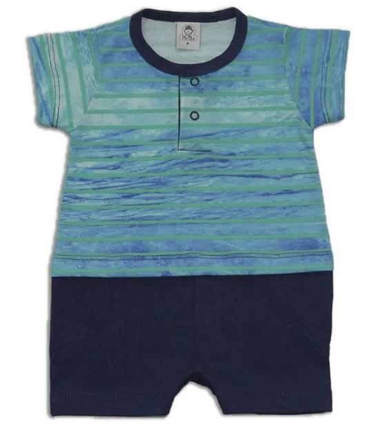 Macacão bebê masculino - Piu Blu - 1923465