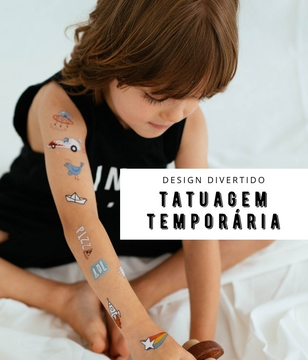 Tatuagem temporária infantil