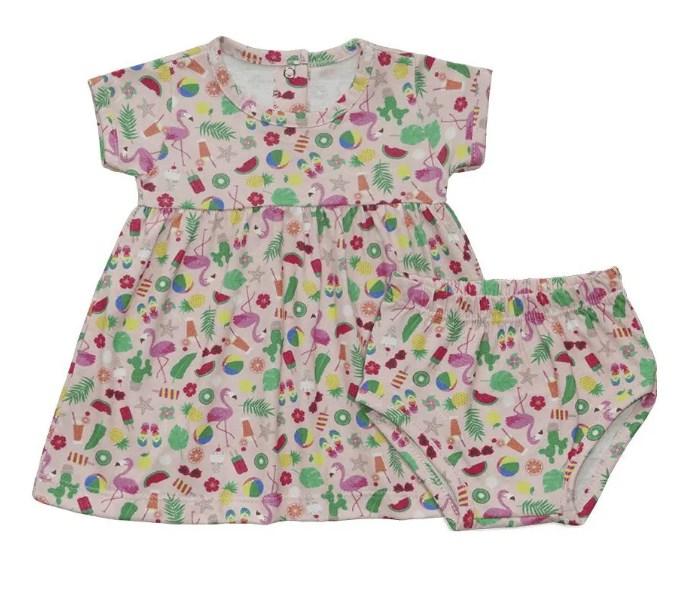Vestido Bebê Com Calcinha - Piu Blu - 1926260