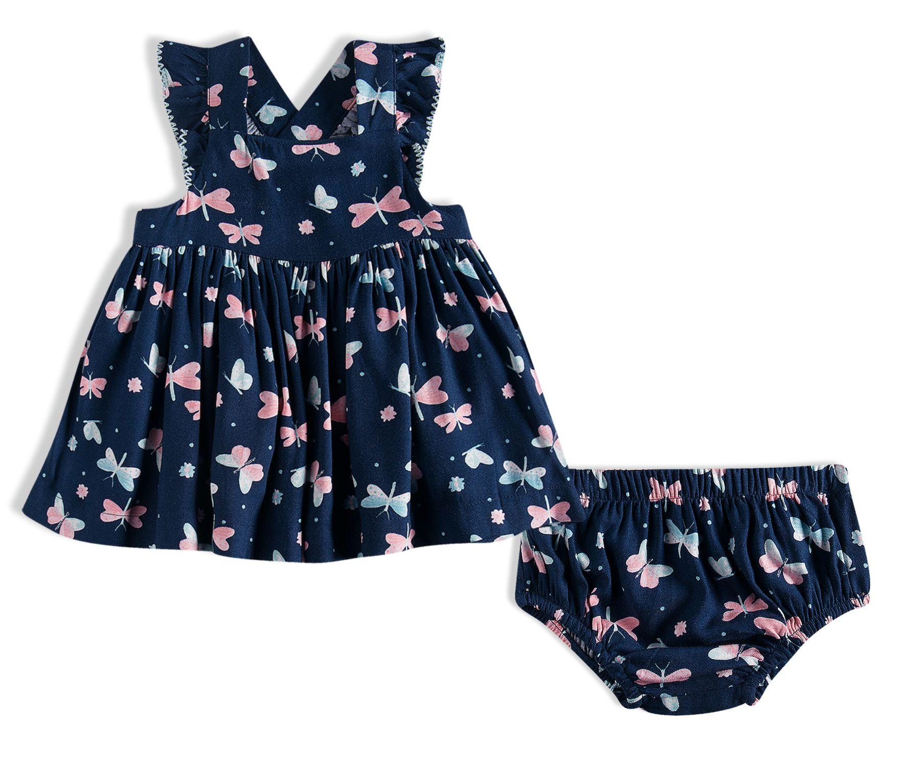 Vestido Bebê Com Calcinha - Tip Top - 13200328