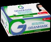 MASCARA TRIPLA DESCARTÁVEL PRETA GRANMASK CX 50 UN