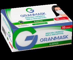MASCARA TRIPLA DESCARTÁVEL ROSA GRANMASK CX 50 UN