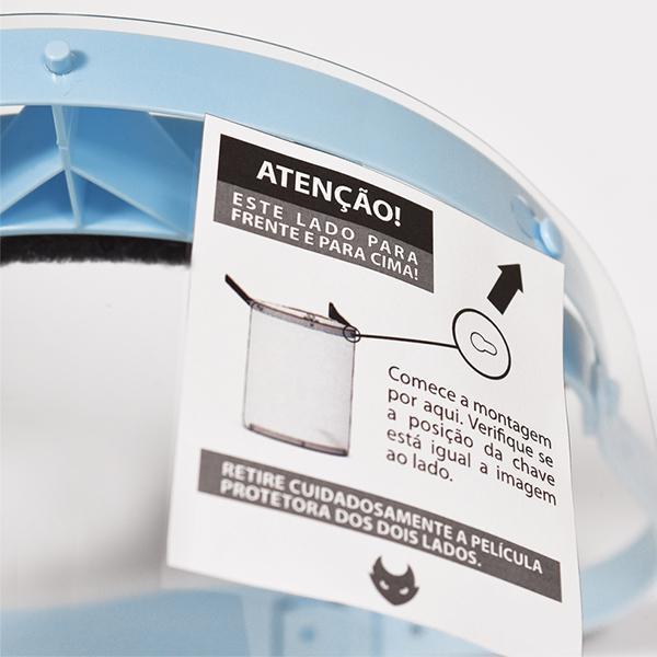 MÁSCARA FACE SHIELD - PROTECTOR SHIELD ELECTRIC INK - AZUL